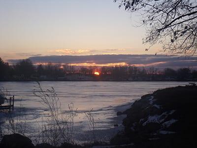 Sunset on Buckeye Lake