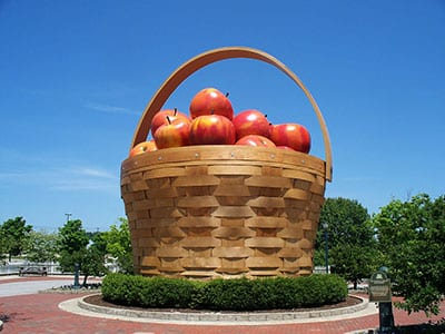 World's largest apple basket in Frazeysburg, Ohio