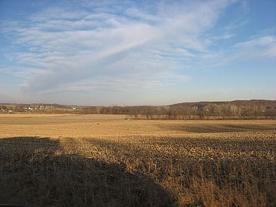 Open field in Glenford, Ohio