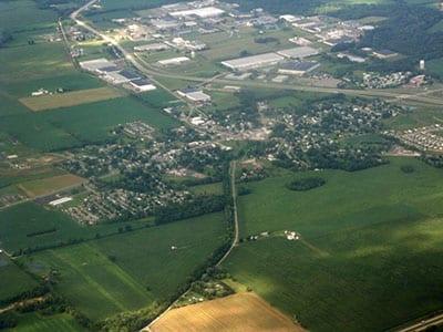 Satellite image of Hebron, Ohio